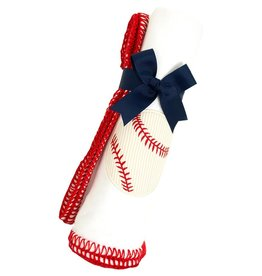 3 Marthas R. BLANKET APPLIQUE BASEBALL