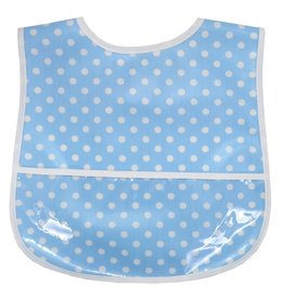 3 Marthas LAMINATED BIB-BLUE P. DOT