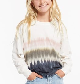 Z Supply Girls Kaiya Dip Dye LS Crew