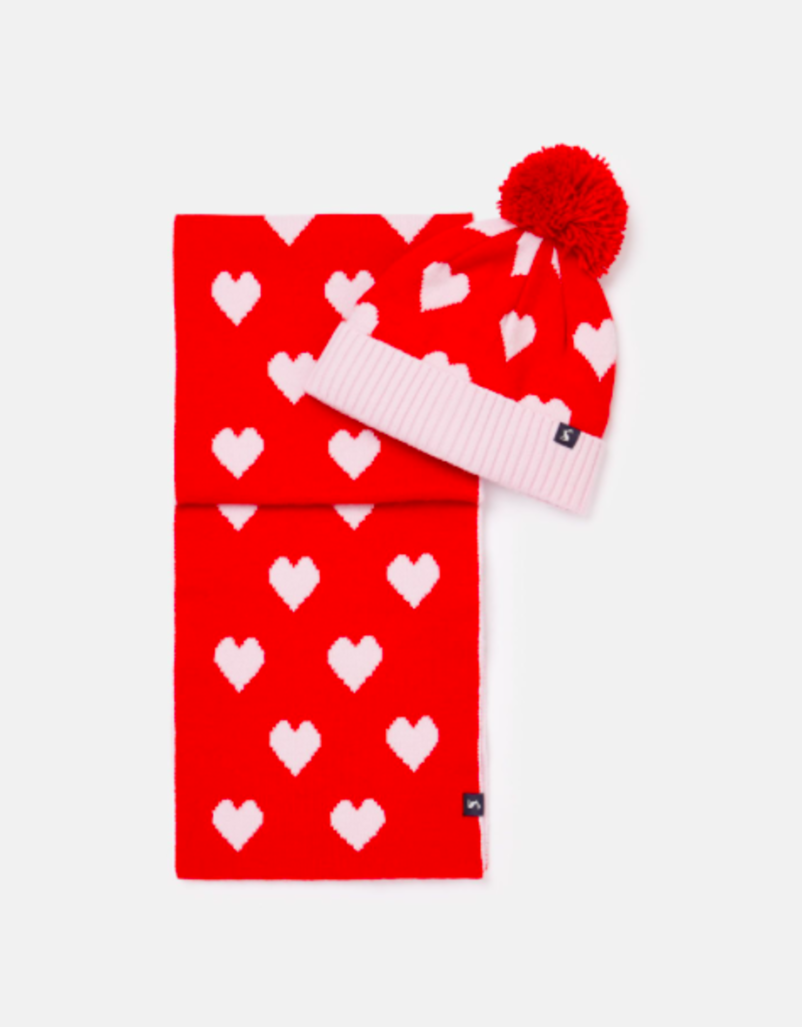 Joules Snowy Hat and Scarf Set