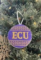 Smathers and Branson ECU Fairisle Ornament