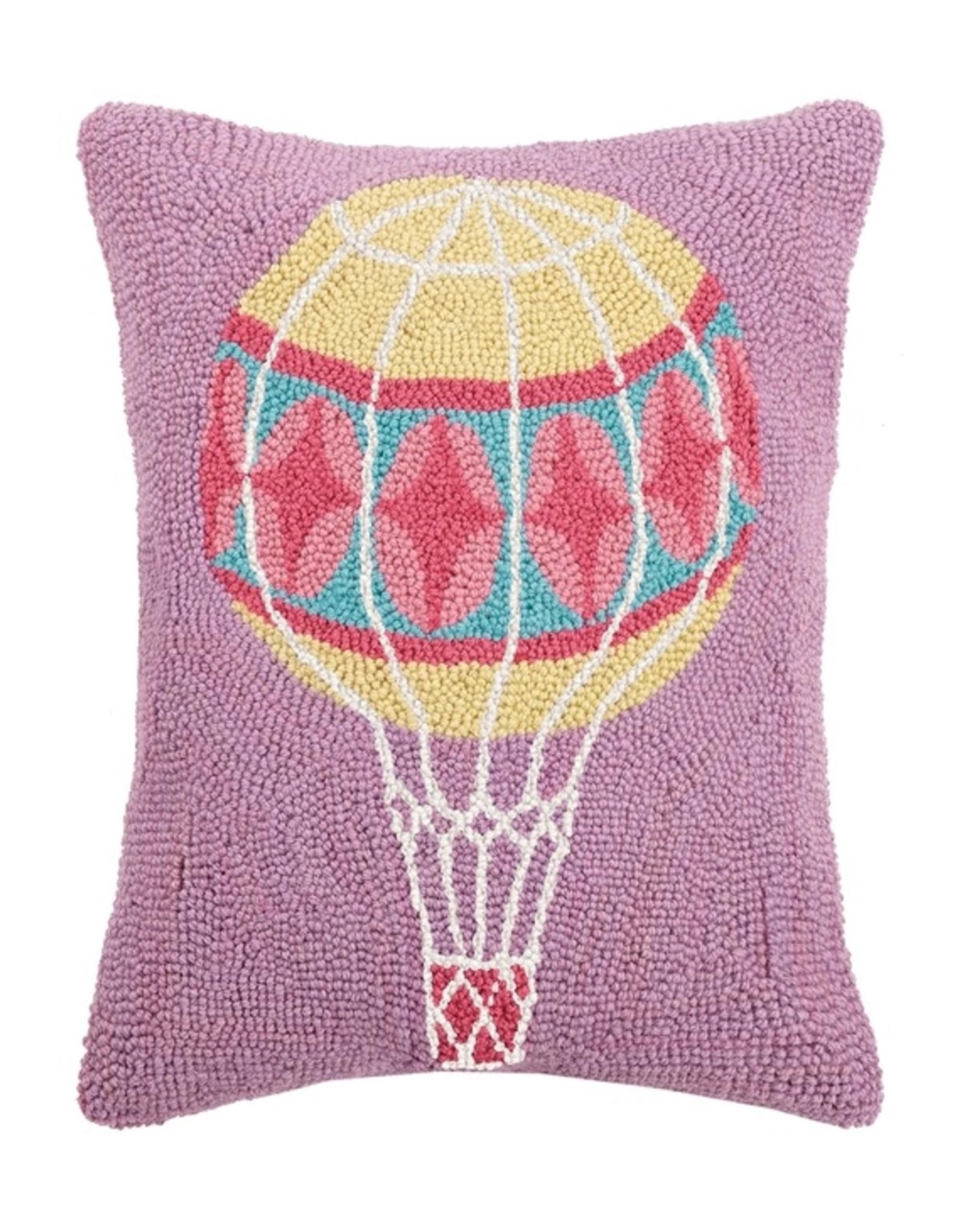 Peking Handicraft Pastel Hot Air Balloon Hook Pillow
