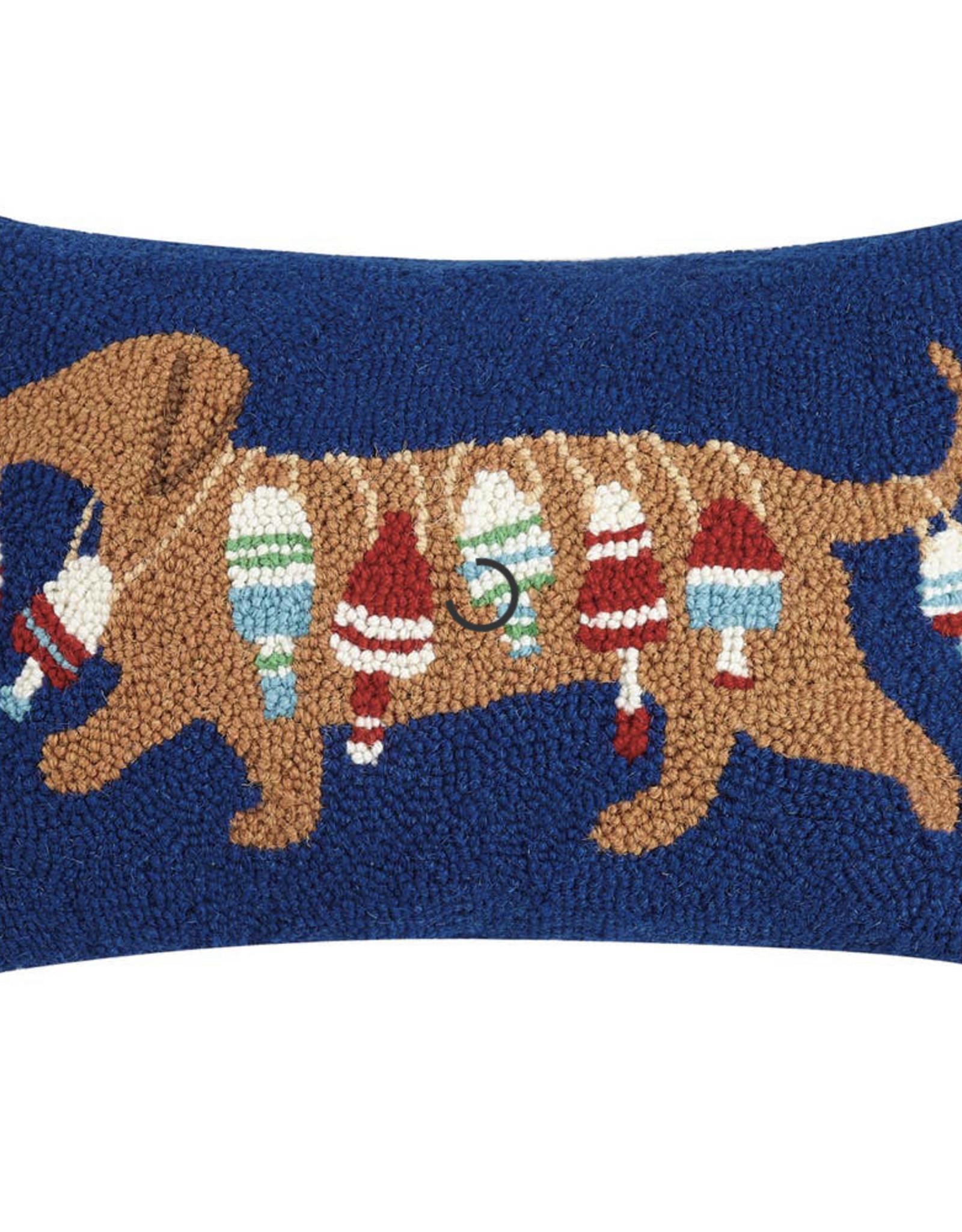 Peking Handicraft Dachshund Dog With Buoy Hook Pillow