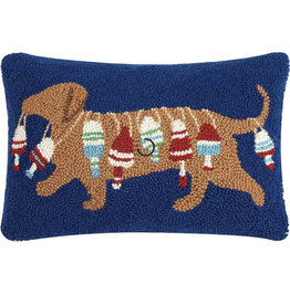 Peking Handicraft Dachshund Dog With Buoy Hook Pillow