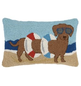 Peking Handicraft Dachshund In Tube Beach Hook