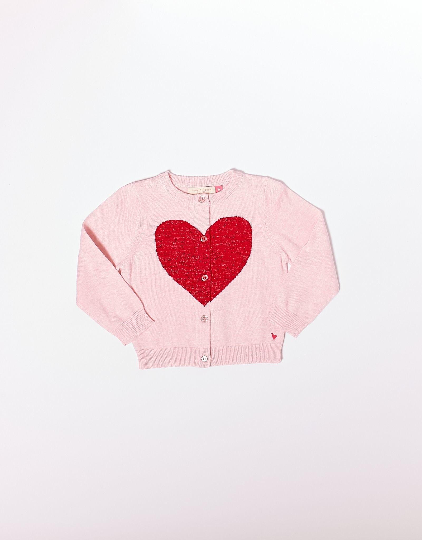 Pink Chicken Hannah Heart Sweater
