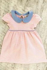 Luigi Kids Lyla Pink Striped Dress