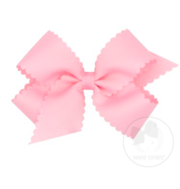Wee Ones Medium Scalloped Edge Grosgrain Bow