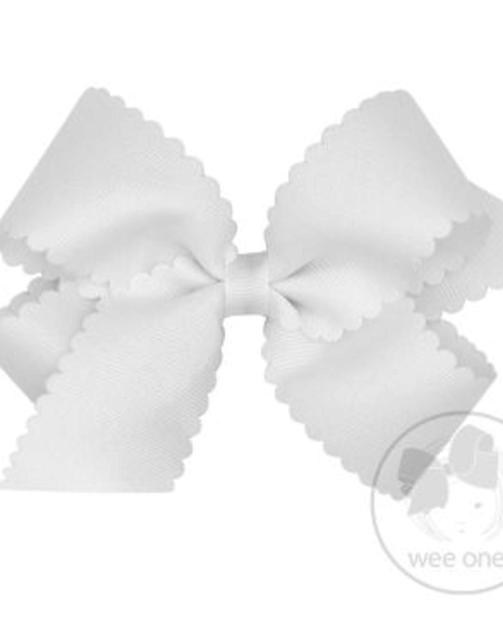 Wee Ones Medium Scalloped Edge Grosgrain Bow