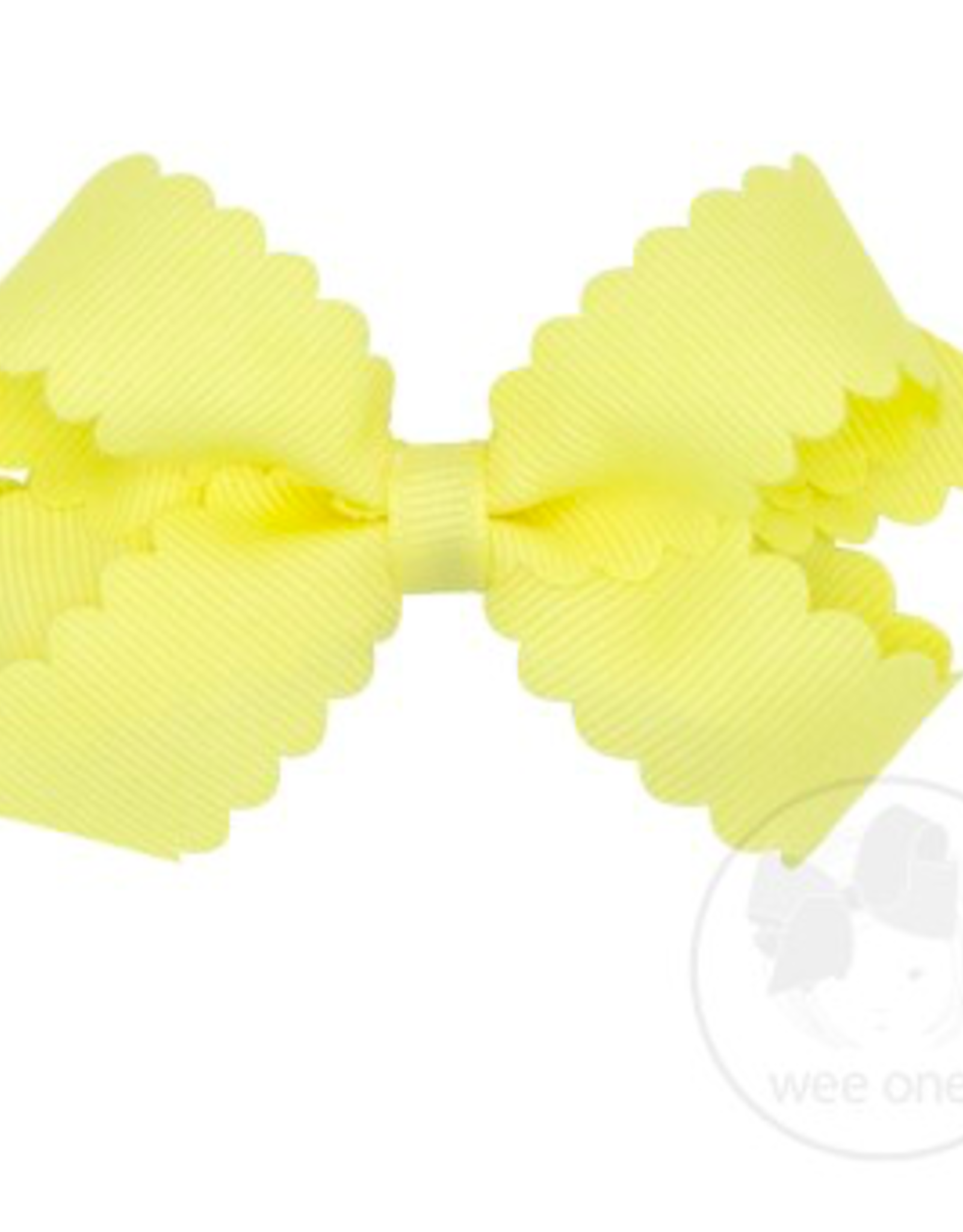 Wee Ones Mini Scalloped Edge Grosgrain Bow