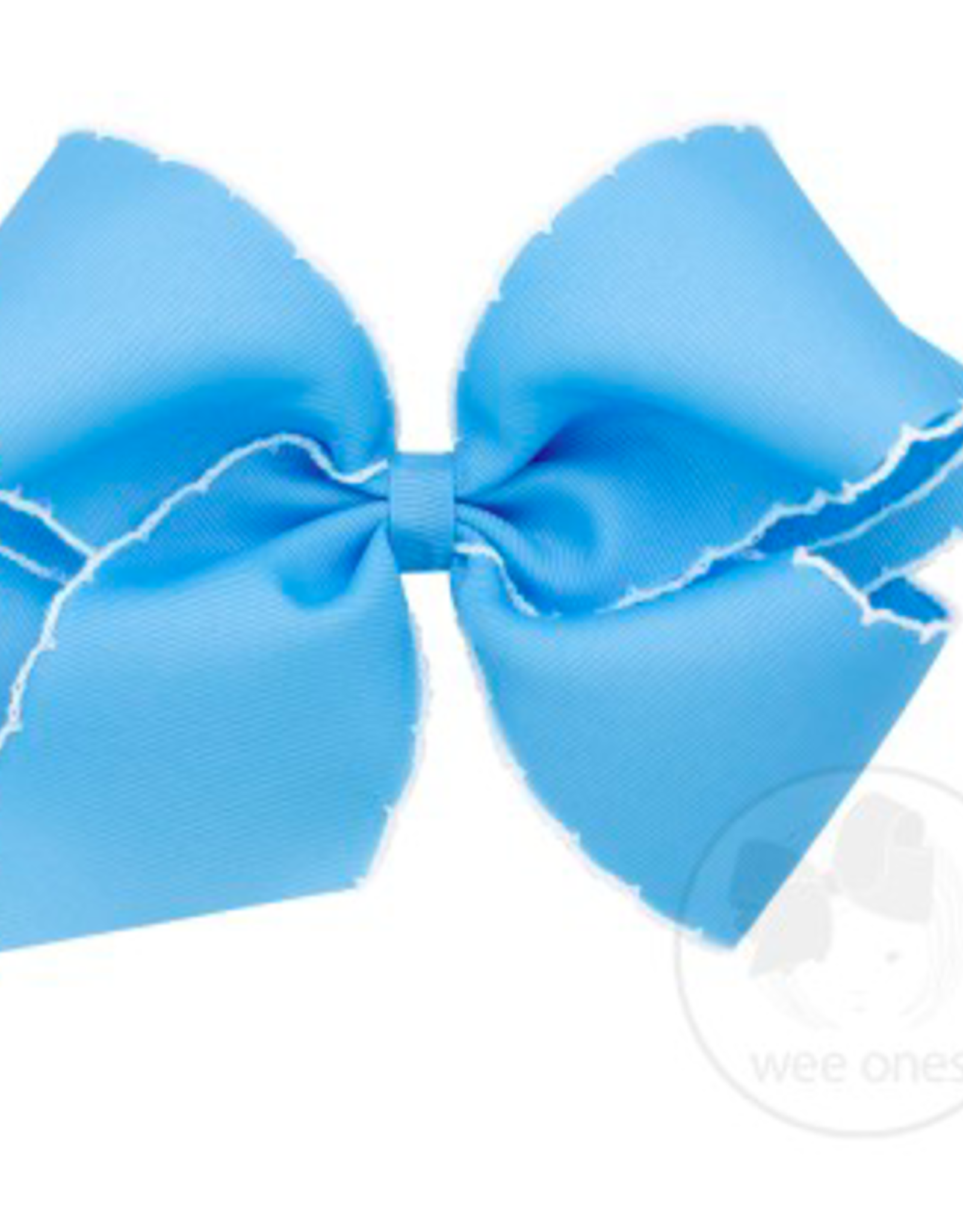 Wee Ones King Grosgrain Bow with Stitch Edge