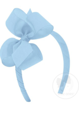Wee Ones Medium Classic Grosgrain Bow on Headband