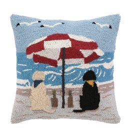 Peking Handicraft Beach Labrador Dogs Hook Pillow