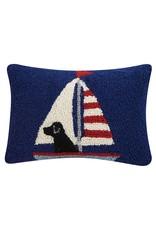 Peking Handicraft Labrador In Sailboat Hook Pillow