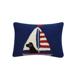 Peking Handicraft Labrador In Sailboat Hook Pillow