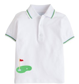 Little English Applique Tipped Polo