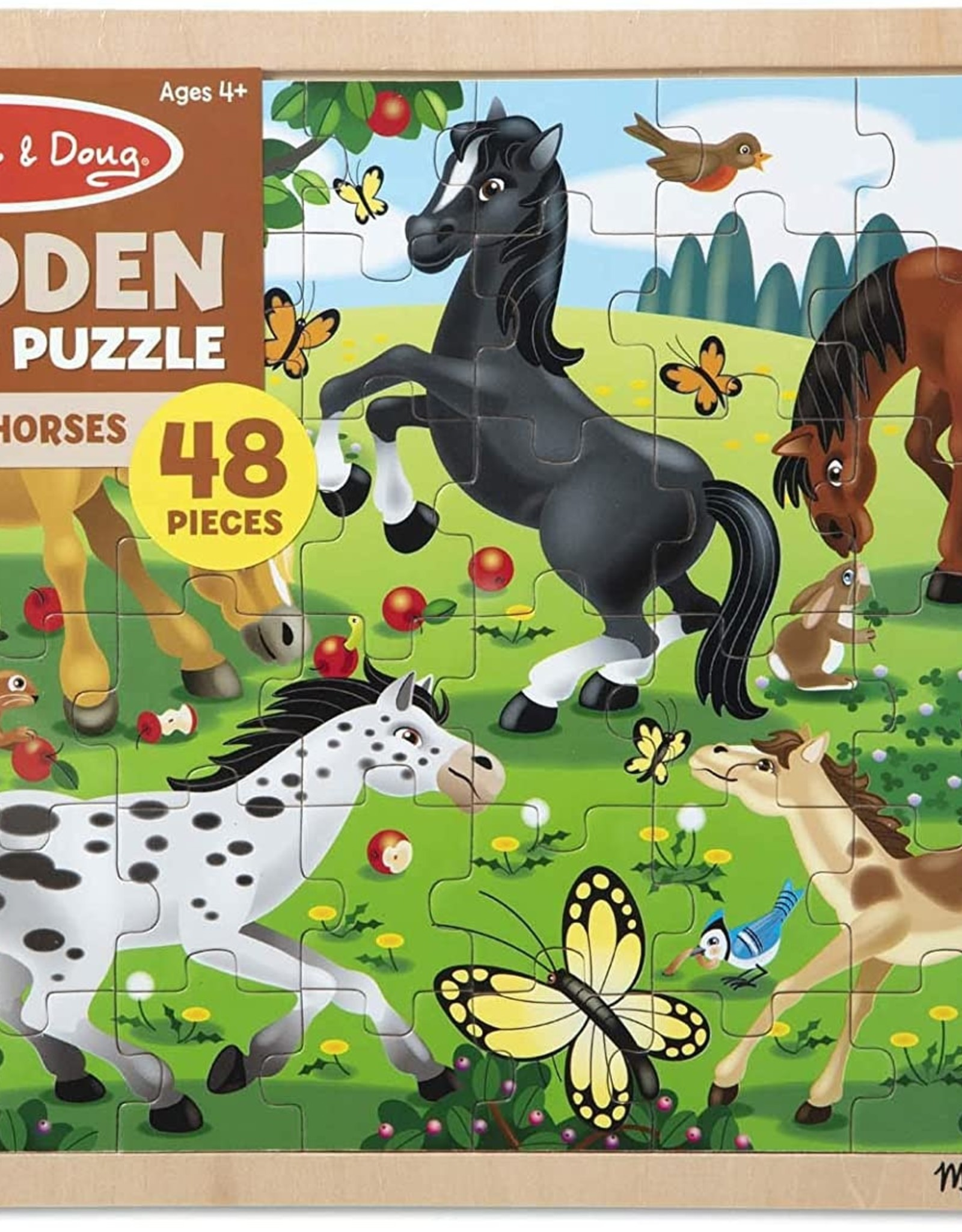 Melissa & Doug Frolicking Horses Jigsaw (48 pcs)