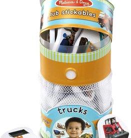 Melissa & Doug Tub Stickables- Trucks