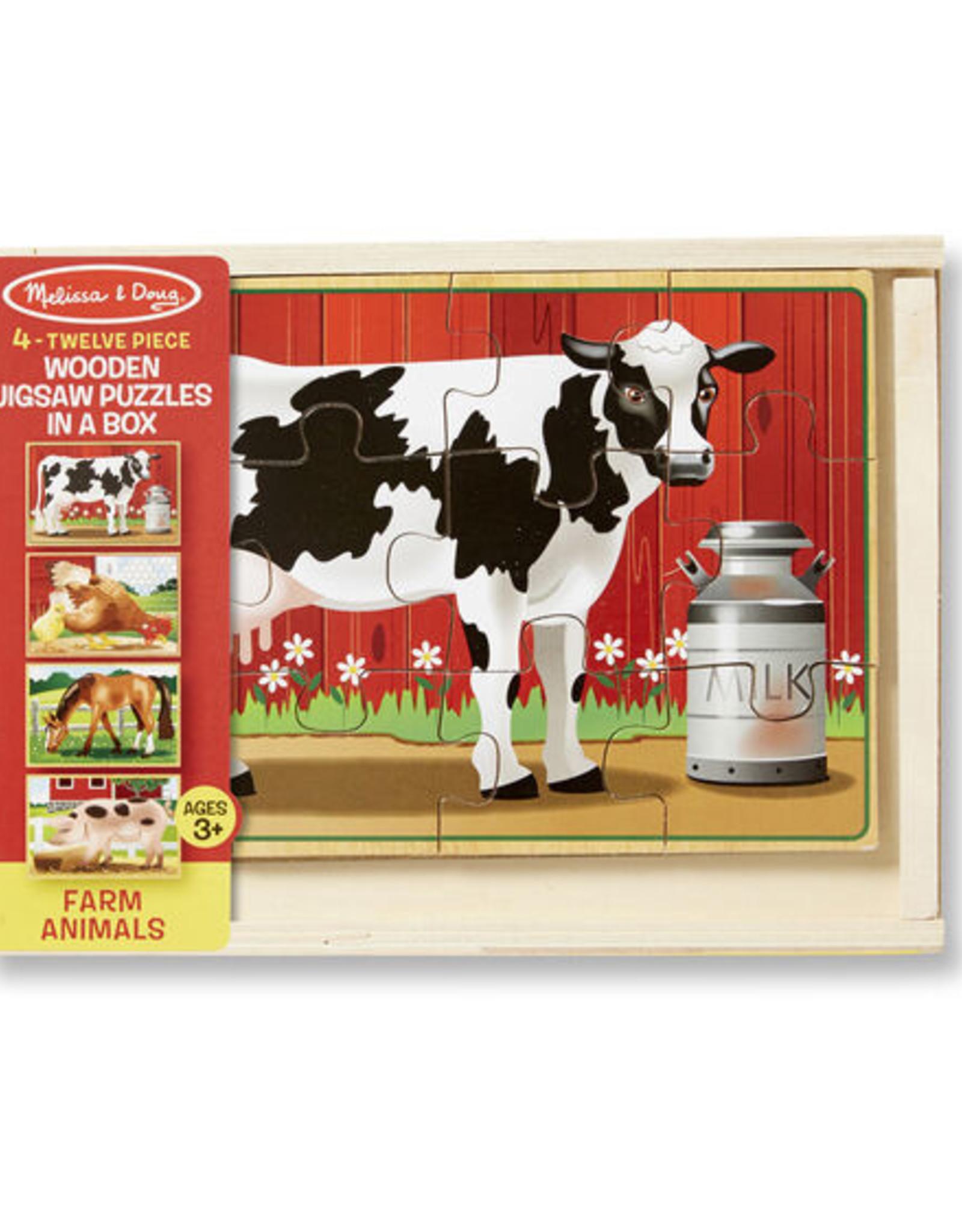 Melissa & Doug Farm Animals Puzzles in a Box