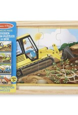 Melissa & Doug Construction Puzzles in a Box