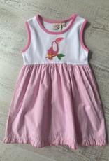 Luigi Kids Ruffle Dress Toucan