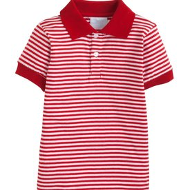 Little English Short Sleeve Striped Polo