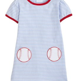Little English Applique T-Shirt Dress