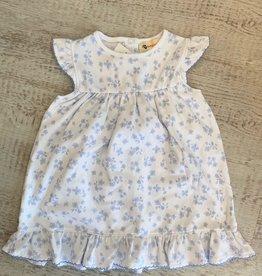 Luigi Kids Flutter Sleeve Ruffle Bottom Dress