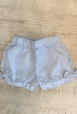 Luigi Kids Seersucker Gathered Shorts Bow
