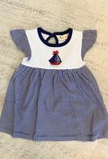 Luigi Kids Flutter Sleeve Print Dress