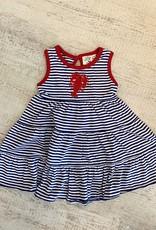 Luigi Kids Striped Sleeveless Tiered Dress