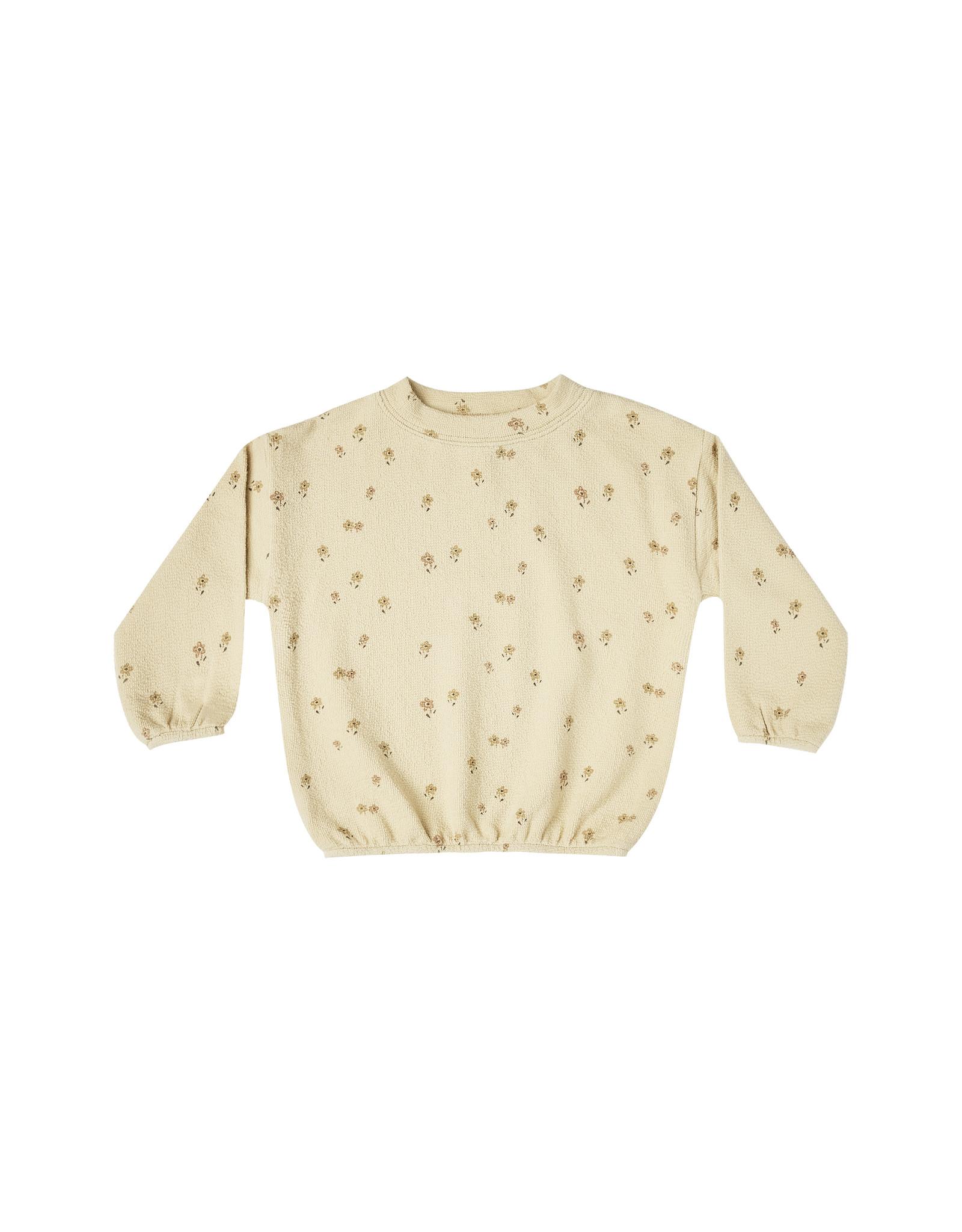 Rylee + Cru Little Flower Slouchy Pullover