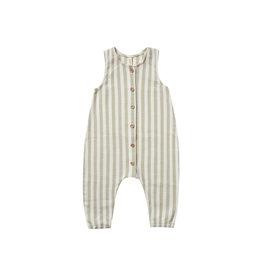 Quincy Mae Woven Button Jumpsuit
