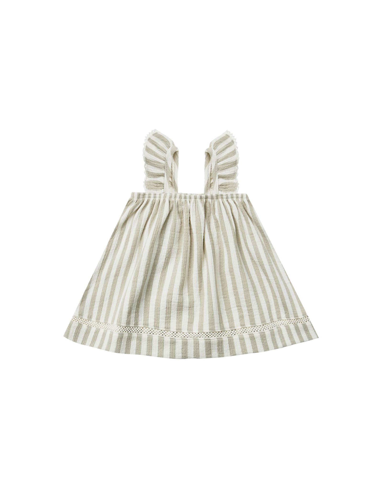 Quincy Mae Woven Ruffle Tube Dress