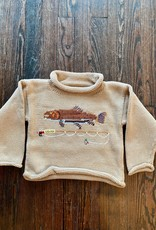 Luigi Kids Roll Neck Trout Sweater