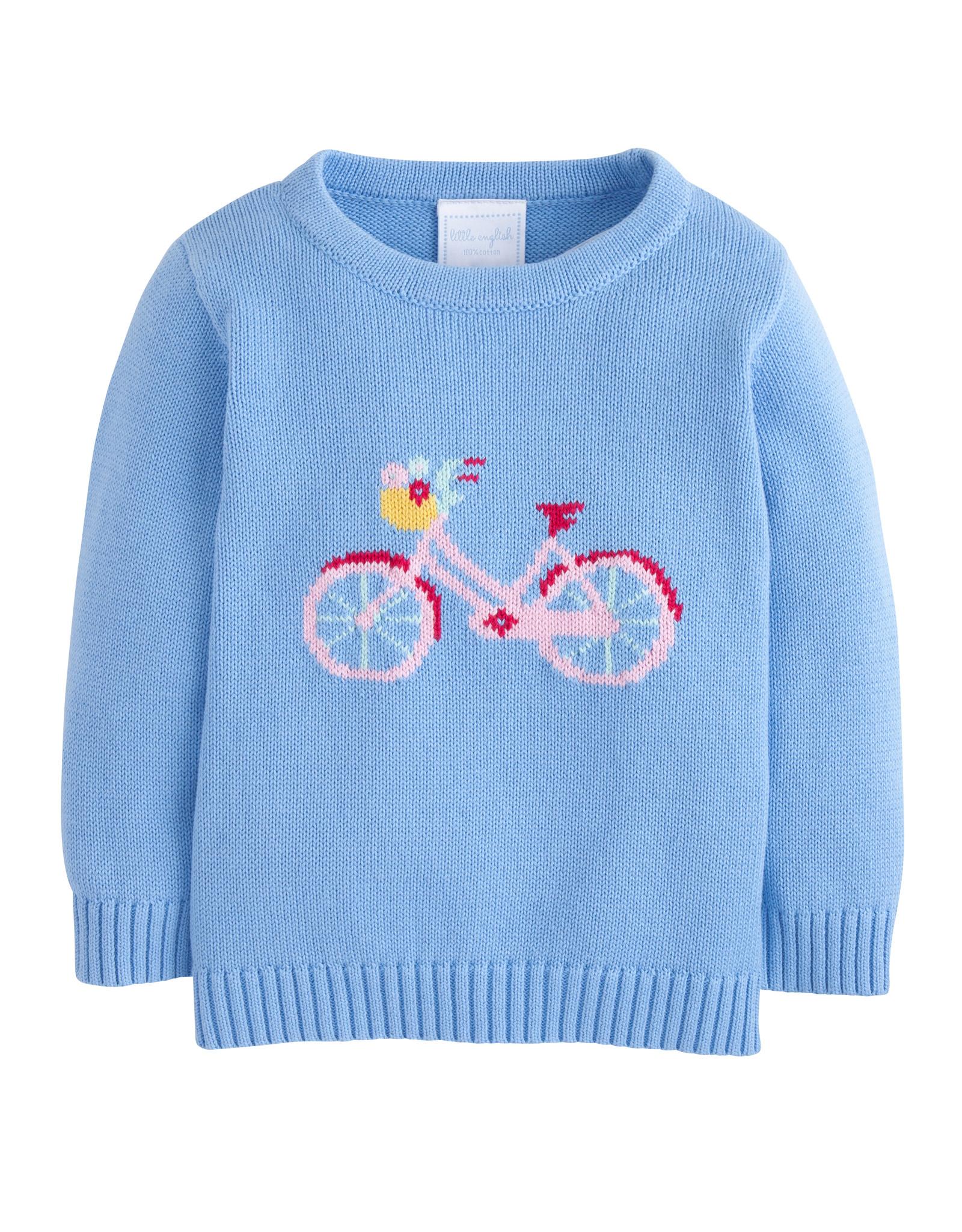 Little English Vintage Bicycle Intarsia Sweater