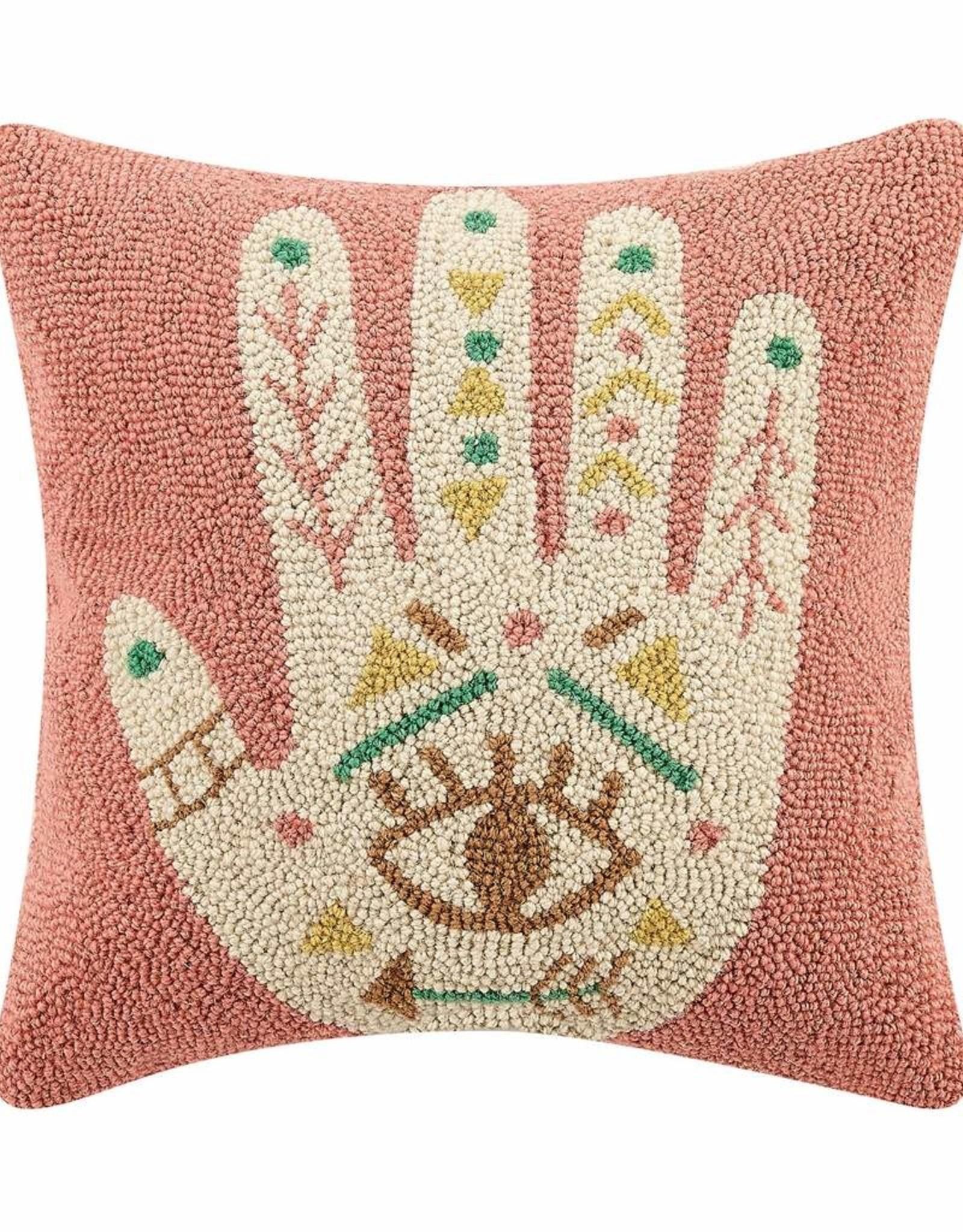 Peking Handicraft Boho Hand Hook Pillow