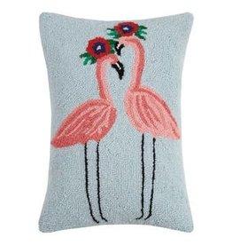 Peking Handicraft Flamingo Duo Hook Pillow