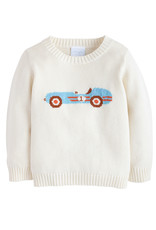 Little English Vintage Racecar Intarsia Sweater