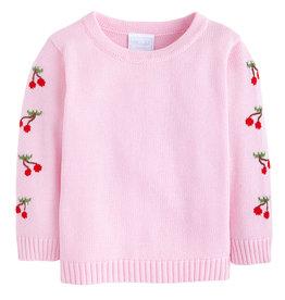 Little English Cherry Fun Intarsia Sweater