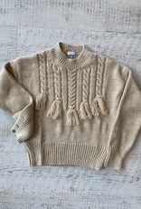Mayoral Button Sleeve Braided Sweater