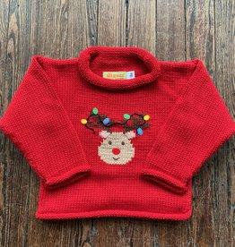 Luigi Kids Roll Neck Rudolph Sweater