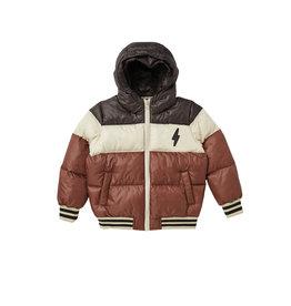 Rylee + Cru Puffer Jacket Color Block