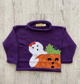 Luigi Kids Roll Neck Friendly Ghost Sweater