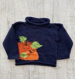 Luigi Kids Roll Neck Pumpkins Sweater