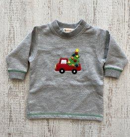 Luigi Kids Christmas Tree Truck Fleece Sweatshirt