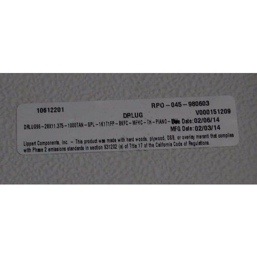 "Lippert Components 28"" x 11 3/8"" Baggage Door Tan w/ Black Tim"