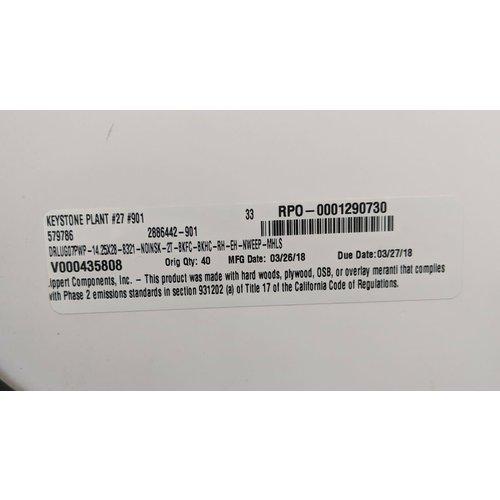 "Lippert Components 28"" x 14 1/4"" Baggage Door Tan w/ Black Trim"