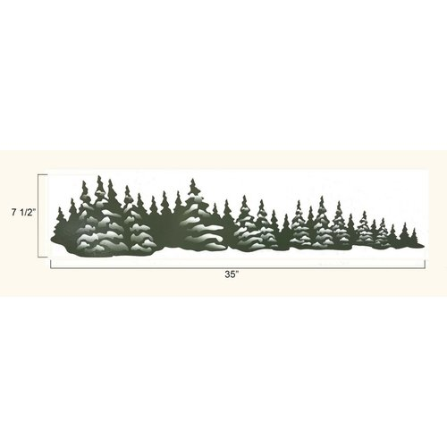 Unbranded Green Trees Right Facing Decal