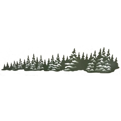 Unbranded Green Trees Left Facing Decal